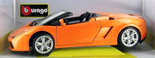 Bburago Lamborghini Gallardo Spyder In Metallic Orange Gold Collection