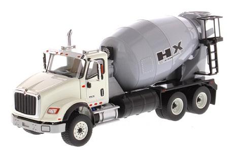 DIECAST MASTERS  International HX615 Concrete Mixer in White with Grey Mixer Drum