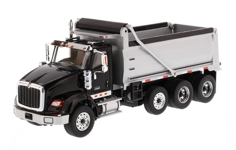 DIECAST MASTERS International HX620 Three Axle Dump Truck - Black
