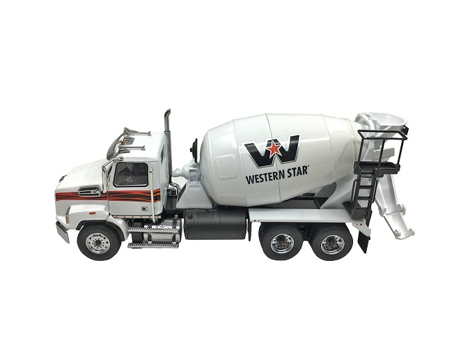 DIECAST MASTERS Western Star 4700 SB Two Axle Mixer Truck - White/White