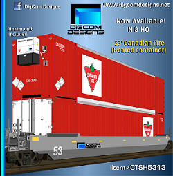 DIGCOM DESIGNS Canadian Tire 53' heated container NEW !