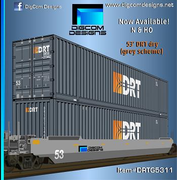 DIGCOM DESIGNS  DRT (grey scheme) 53' dry container
