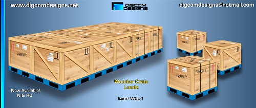 DIGCOM DESIGNS  Wooden Crates on Pallets