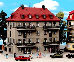 KIBRI Apartment Building w/Balconies & Terrace - Kit