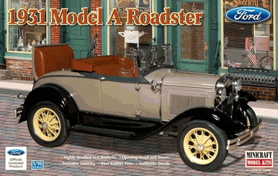 & MINICRAFT 1/16 1931 FORD MODEL