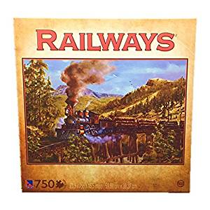 TCG Kevin Daniels 750 Piece Railways Jigsaw Puzzle Logging Train