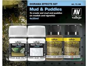 Vallejo - Mud & Puddles Pigment Set